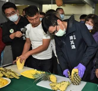 大樹鳳梨銷往首爾 陳其邁:好想征服韓國人的味蕾
