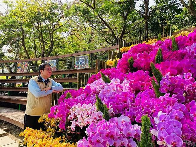 2021台灣國際蘭展 遍地開花遊幸福「蘭」圖。(旅遊經提供)