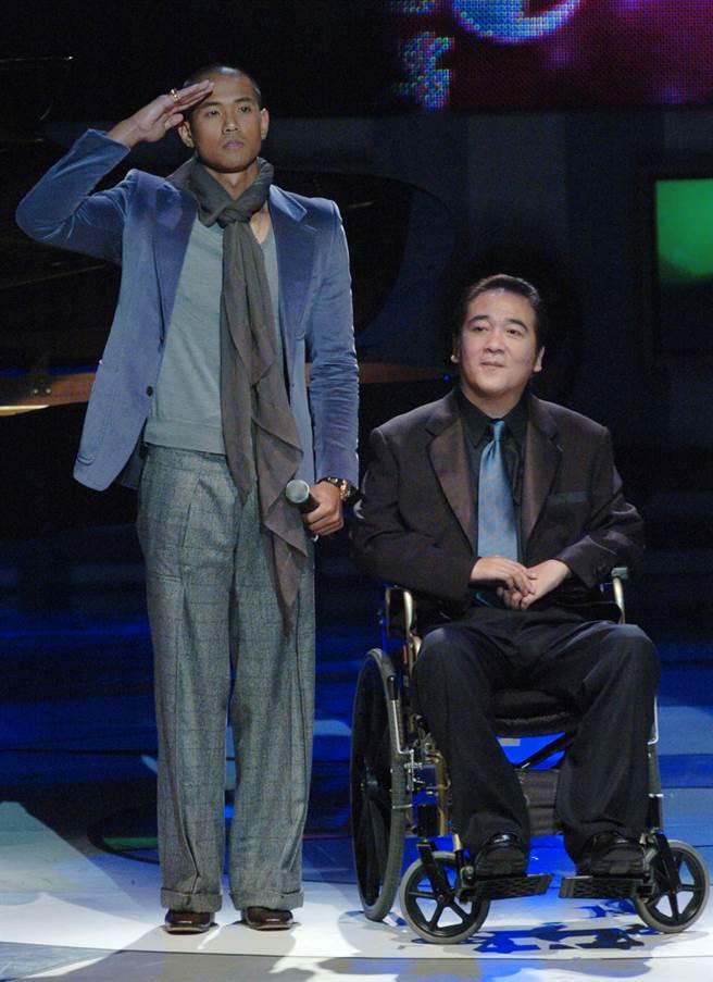 趙學煌(右)入圍2005年金鐘獎戲劇類連續劇男主角獎。(中時資料照)