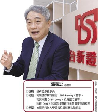 台新證券董事長 郭嘉宏注入投行DNA 用溫度打造熱度