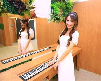 上廁所還可彈鋼琴 中捷文心森林公園站「音樂梳妝台」好夢幻