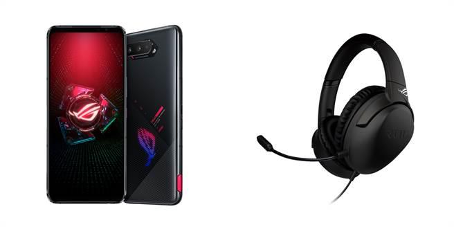 預購ROG Phone 5,中華電信、遠傳、台灣大哥大、台灣之星都有提供登錄送原廠ROG Strix Go Type-c電競耳機。(遠傳提供/黃慧雯台北傳真)