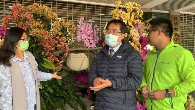 台南鹽水月津港燈節將於6月復辦,因為疫情連續2年停辦的台灣國際蘭展也傳出可能復辦,台南市長黃偉哲表示還在討論,若要辦不會等到下半年,在年中的機會比較大。(莊曜聰攝)