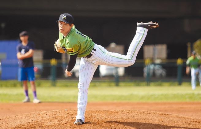 前旅日投手陳冠宇目前代表安永鮮物在春季聯賽出賽。(資料照/李弘斌攝)