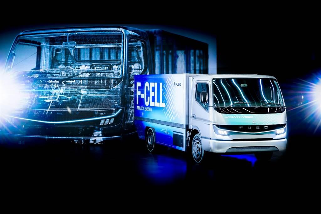 商用車界重量級巨星 現身台北港 FUSO eCANTER F-CELL氫燃料商用概念車抵台