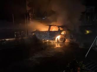 男才下國道突衝入加油站 車輛瞬間爆炸慘燒成焦屍