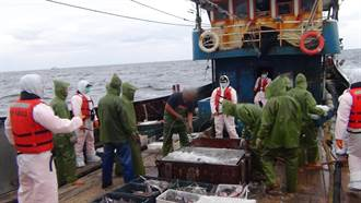 陸船越界捕撈2000公斤漁獲 海巡強勢登檢押返偵辦