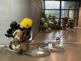 左鎮化石園區消防演練 搶救珍貴化石超逼真