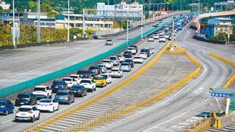 國道5號清明車流 日均上看7.1萬輛次