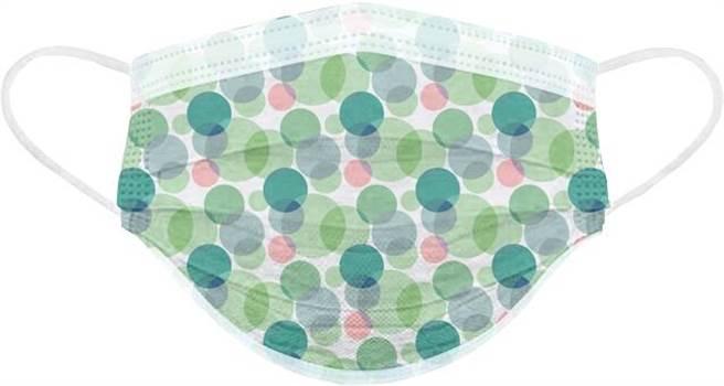 寶雅春天花會開醫用口罩,綠映點點,一盒25入288元。(寶雅提供)