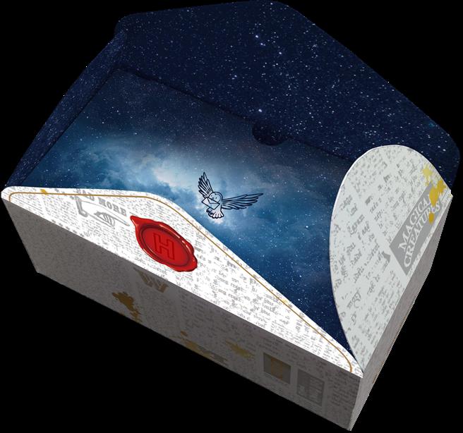 中衛x哈利波特首部曲「入學通知」,將口罩盒設計成信封模樣。(CSD中衛提供)