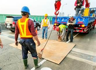 自主檢測橋安全 中市速處烏日環河路伸縮縫損壞