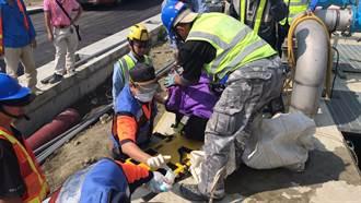 台南工人掉落8公尺蓄水池 意識清楚、後腦有撕裂傷