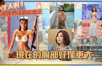 蔡阿嘎精選10名人舊照 陳美鳳超辣她們以前原來這麼正