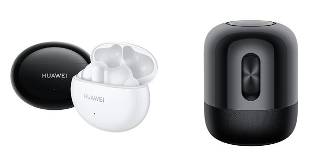 HUAWEI FreeBuds 4i以及HUAWEI Sound。(華為提供/黃慧雯台北傳真)