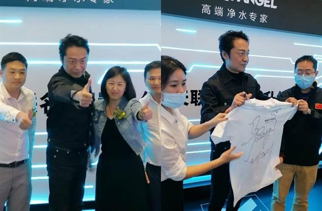 馬景濤到廣州出席活動。(圖/翻攝自明星經紀大衛微博)