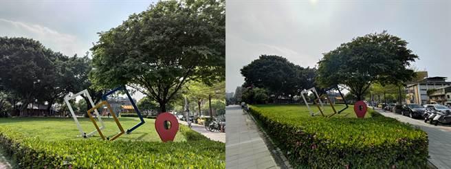 ROG Phone 5日間廣角與超廣角相機對比。(黃慧雯攝)
