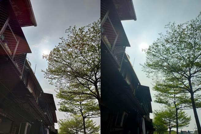 ROG Phone 5(左)與realme X50日拍對比圖(4)。(黃慧雯攝)