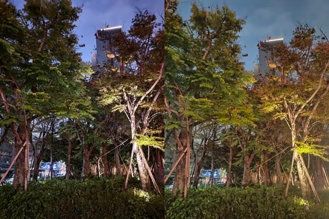 ROG Phone 5(左)與realme X50夜拍對比圖(4)。(黃慧雯攝)