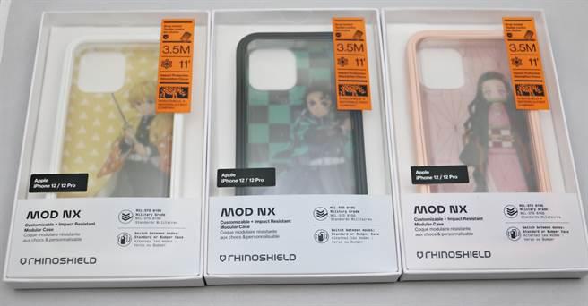 犀牛盾x《鬼滅之刃》聯名的手機殼,可適用於多品牌手機(iPhone)。(黃慧雯攝)