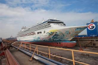 20年探索夢號歲修 台船首度跨足頂級郵輪維修