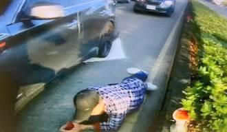 心虛男停車又落跑 警圍捕發現是車牌賊