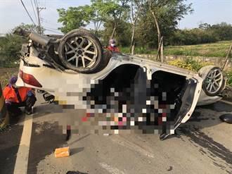 自撞電線桿整車翻倒 男頭部重擊腦漿外溢慘死