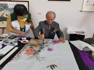 92歲老畫家姚民生樂公益 捐字畫義賣助家扶兒