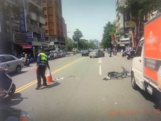 台中貨車開門擊倒16歲單車少年 慘被後車輾過身亡