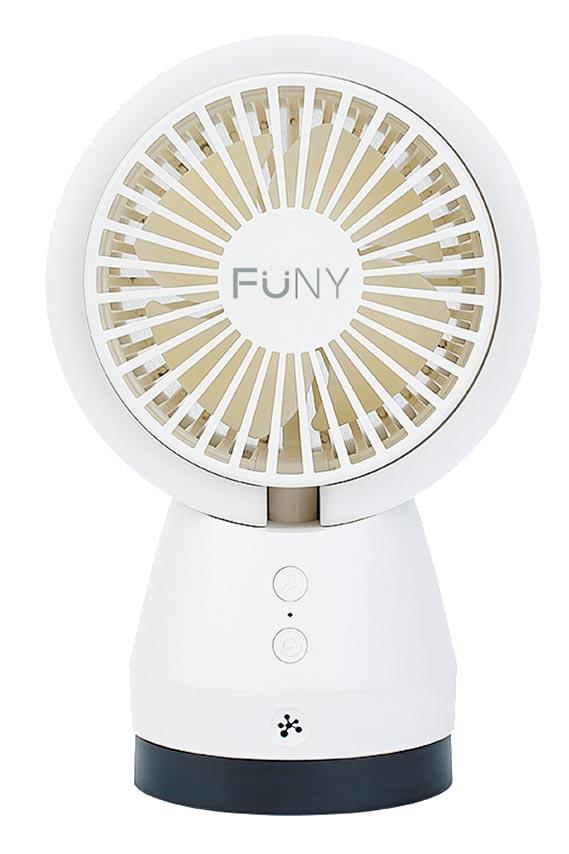 生活工場FUNY阿尼空氣淨化USB風扇,獨特設計,讓空氣過濾淨化與涼爽風扇2合1。(生活工場提供)