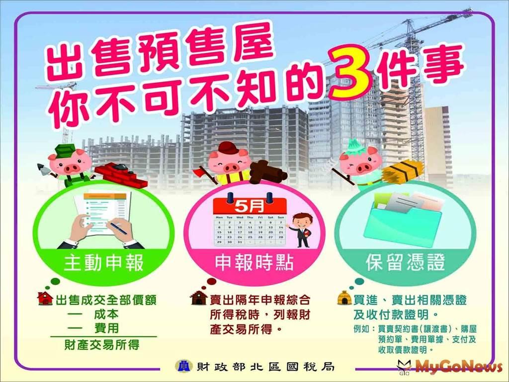 個人出售預售屋的所得,應列報綜合所得稅(圖/財政部)
