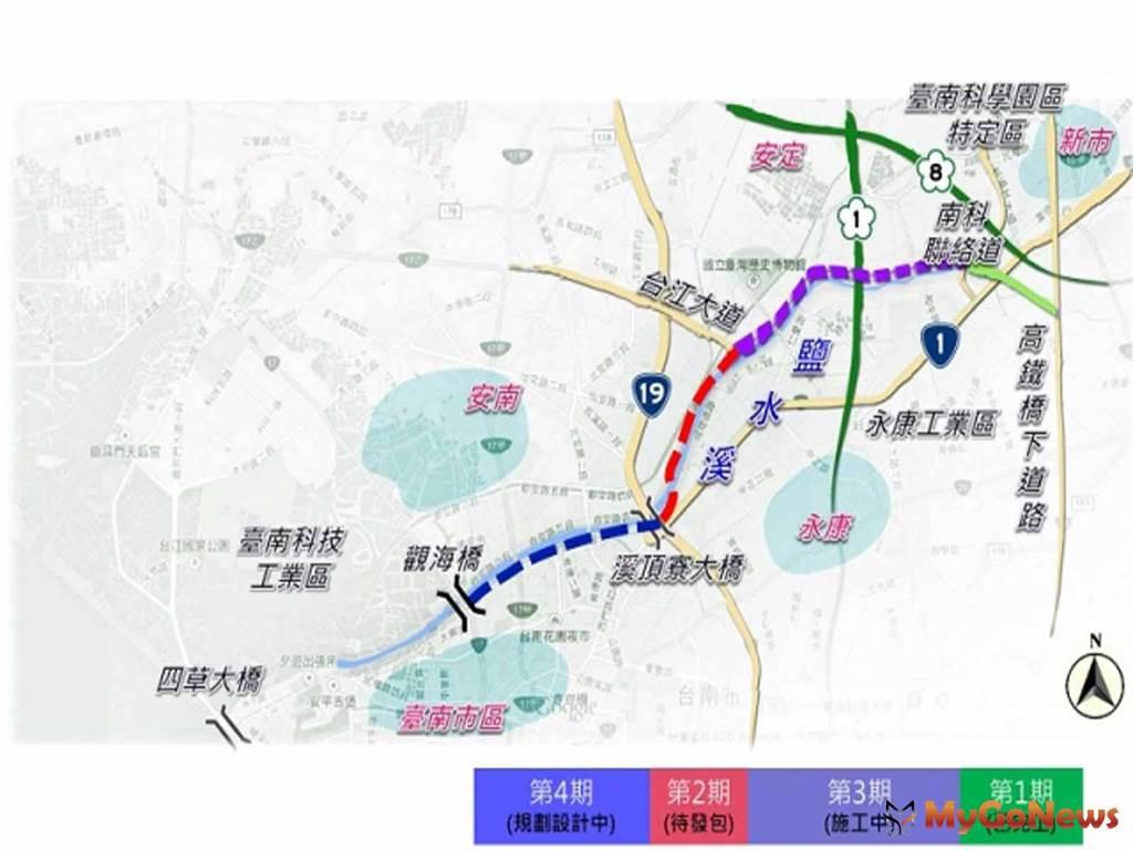 建構南科新路廊 營建署:北外環道路2期即將發包(圖/營建署)