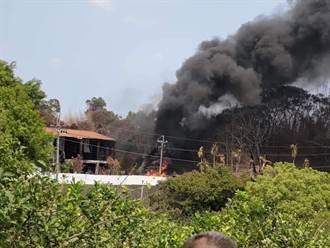缺水還燒不停 台中后里橡膠廠近1個月5度起火
