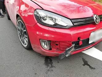 前車失控自撞 後車男子減速慘遭後方酒駕男追撞