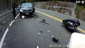 15歲無照少年騎車行經台3線阿婆彎 衝撞對向轎車捲入車底