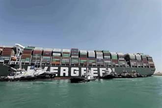 【長榮輪卡運河】長賜輪才移動30公尺又卡關 船頭下驚見巨石