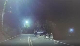 休旅車撞山壁四輪朝天 19歲男子頭部重創