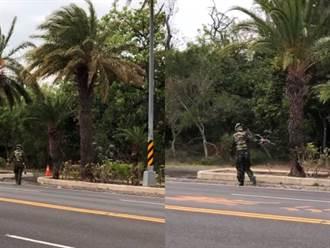 墾丁馬路驚見遊客當街「槍戰」 目擊者嚇壞:太囂張了吧