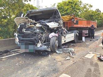 國道超車攔停 3車連撞釀1死2傷