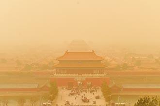 沙塵暴再襲北京 嚴重汙染逾12小時