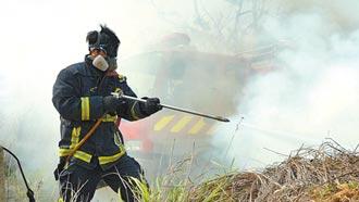 清明多火警 中市消防局籲掃墓不燒墓