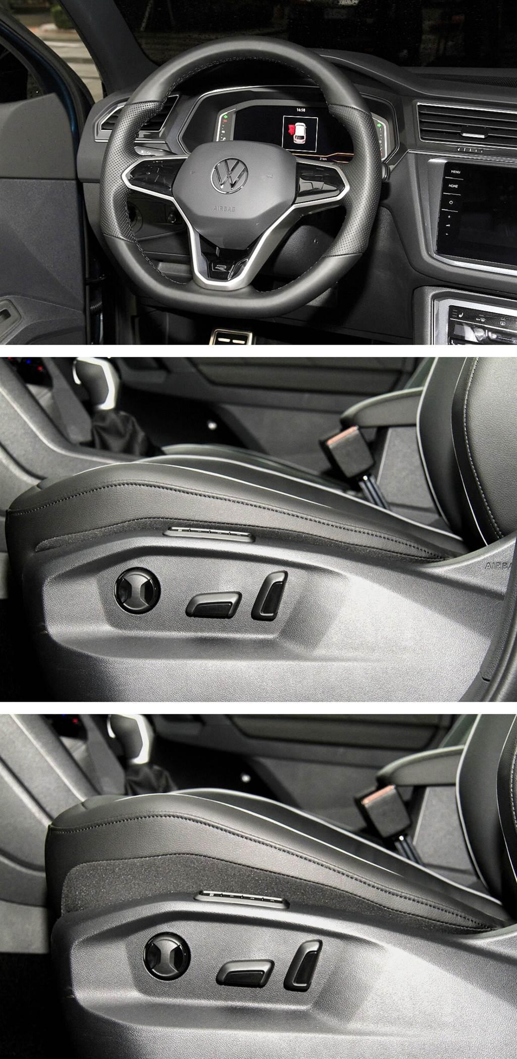 駕駛座座墊具有相當大角度的調整,可對應不同腿長的駕駛調整出最佳的駕姿。