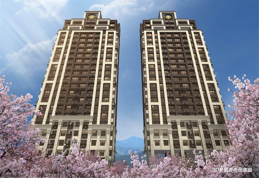 沅利建設攜手日本國土開發營造商,推出40年代表作「自慢藏」,主打台灣水岸自慢代表作,規劃地上22樓、地下4樓雙棟建築。(業者提供)