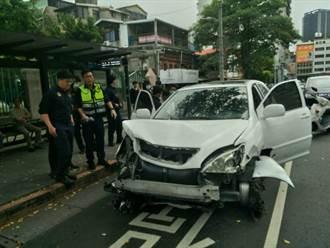 萬華街頭警匪追逐 白色休旅車拒檢警一路狂追開8槍逮人