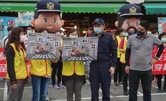 霧峰好安心警察志工宣導團處女秀 行動劇來宣導