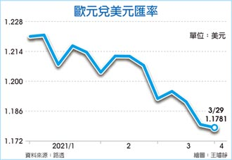 美元持續看漲 歐元大跌