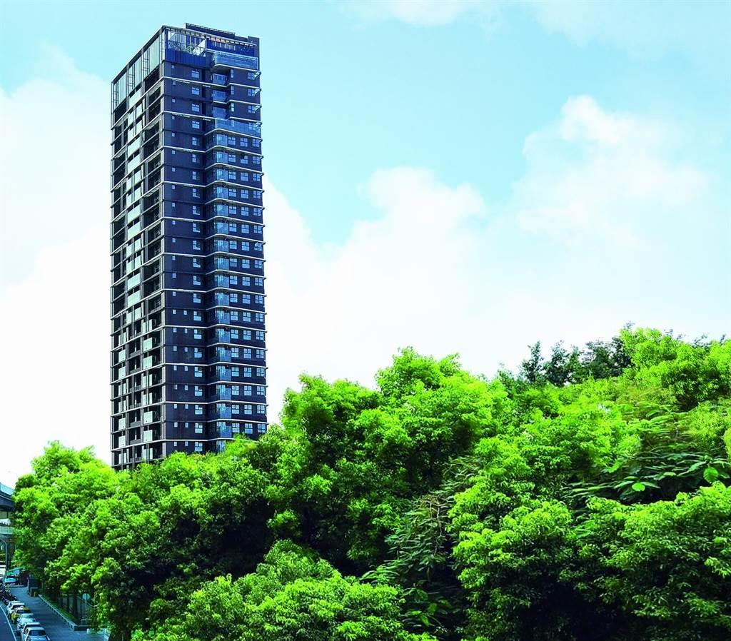 「昕彤觀瀾」規劃地上27層樓,為在地指標水岸景觀宅。(業者提供)