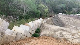 苗縣開罰山坡地常見違規 水泥塊當擋土牆超危險