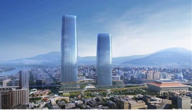 台北雙子星大樓在此次環評中被砲轟外觀設計太醜、綠能策略未符合減碳潮流。(開發單位提供/黃婉婷台北傳真)