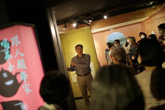 中央研究院民族所博物館特展「跟人類學家喝茶去」策展人余舜德。(中研院提供/李侑珊台北傳真